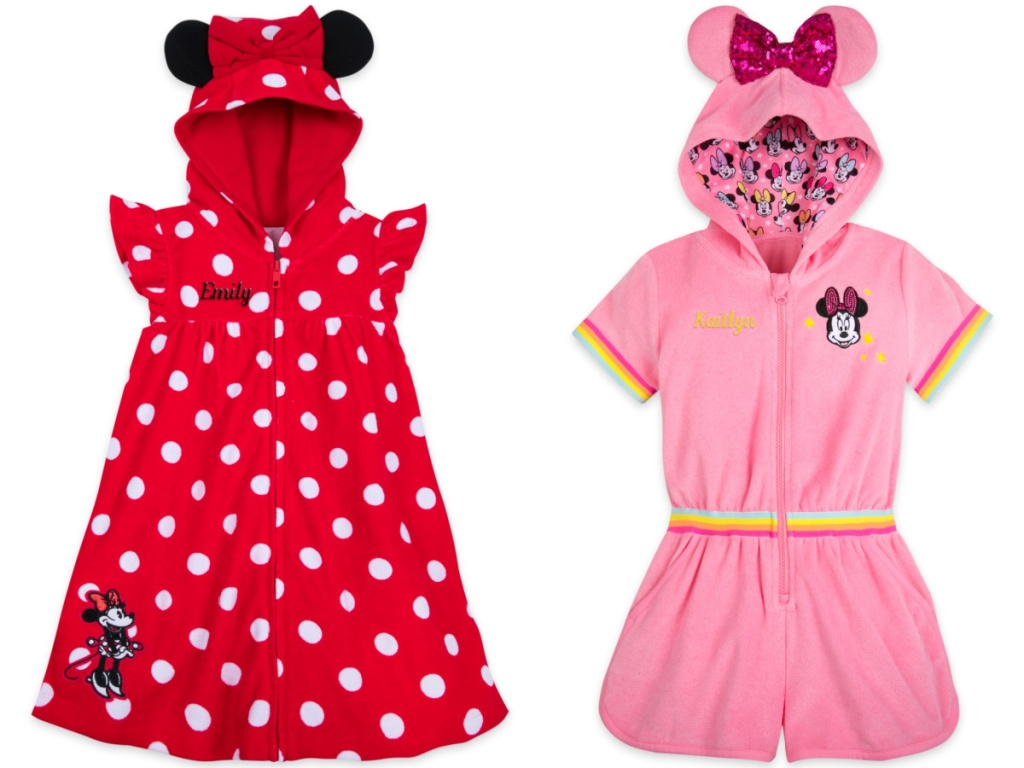 Minnie mouse girls swimsuits cover-ups