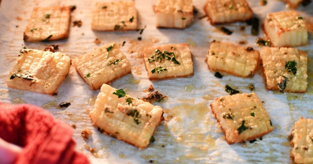 easy crispy potato bites in the oven