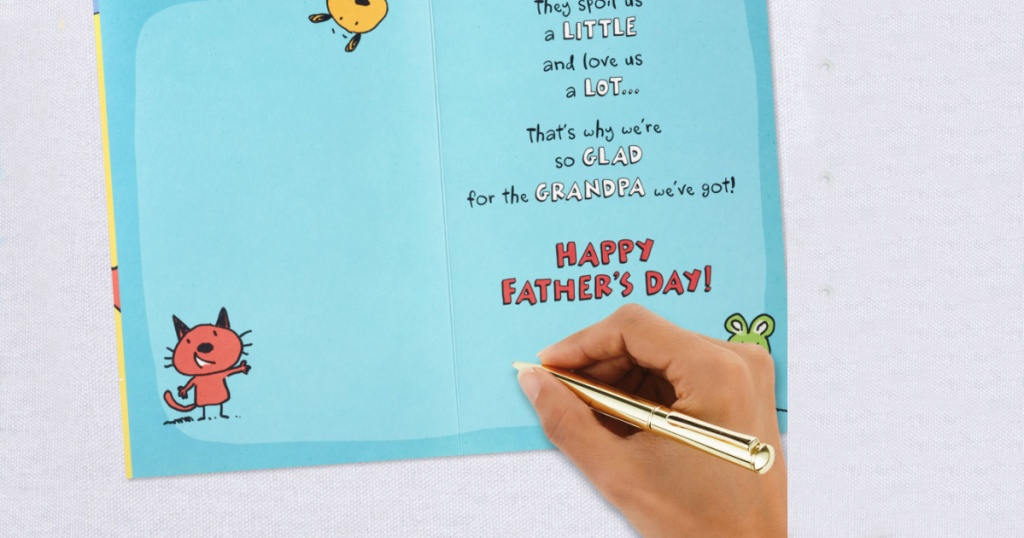 handwriting fathers day card