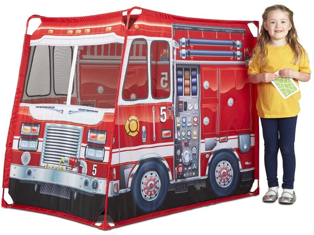 melissa & doug firetruck tent