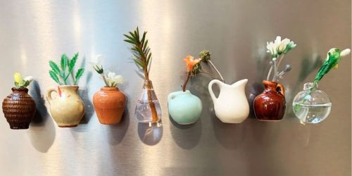 8 Hand-Painted Mini Ceramic Vase Refrigerator Magnets Only $22.99 Shipped (Regularly $45)