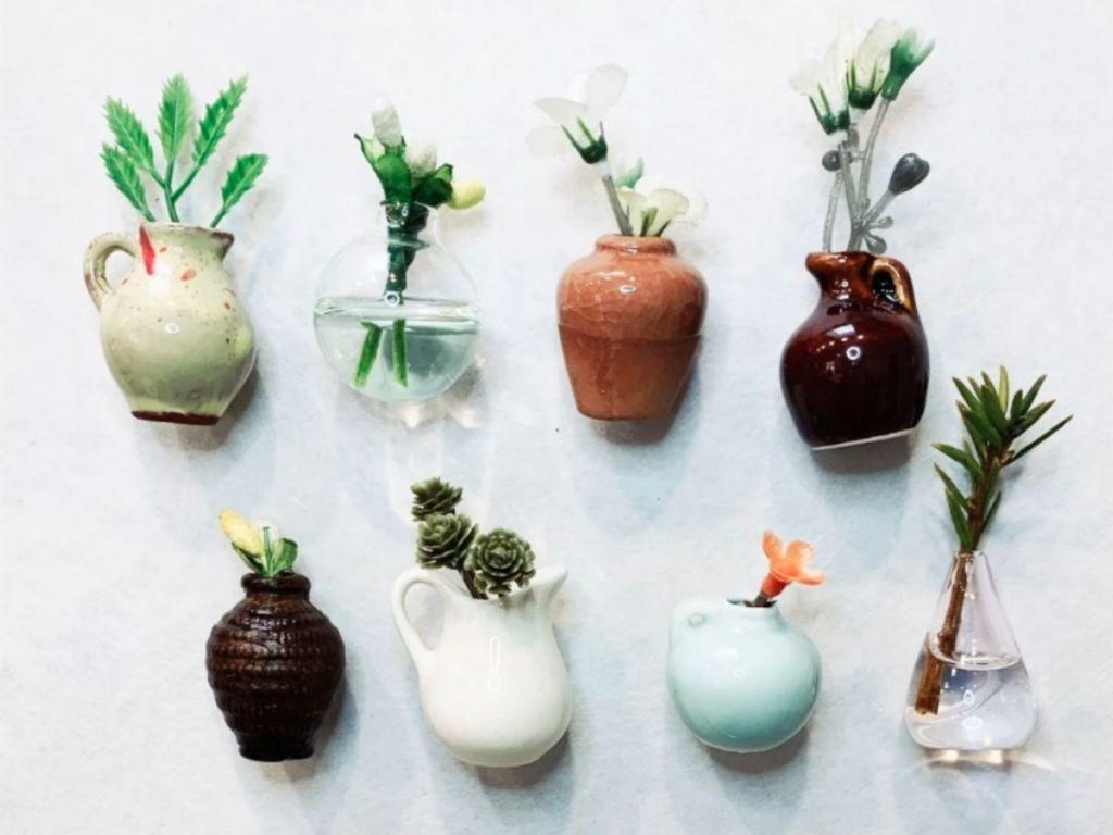 flower pot fridge magnets