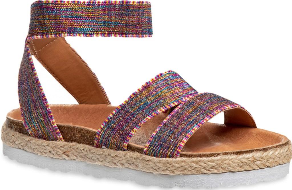 girls rainbow sandals