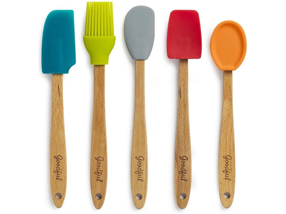 multicolored kitchen tools