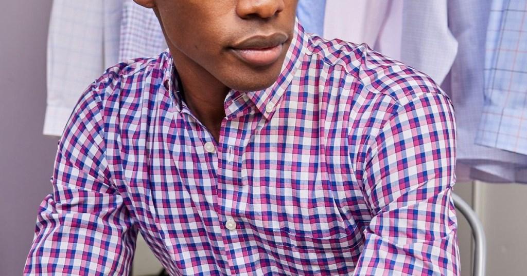 Jos A Bank guy in sportsshirt
