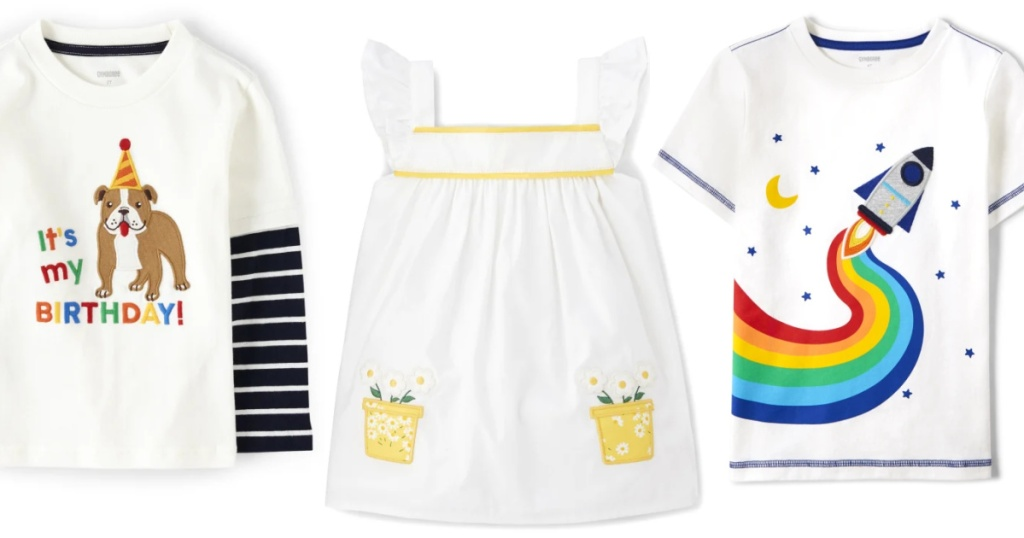 kids tops and a dress