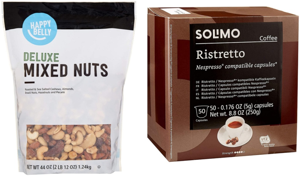 Deluxe mixed nuts and solimo ristretto pods