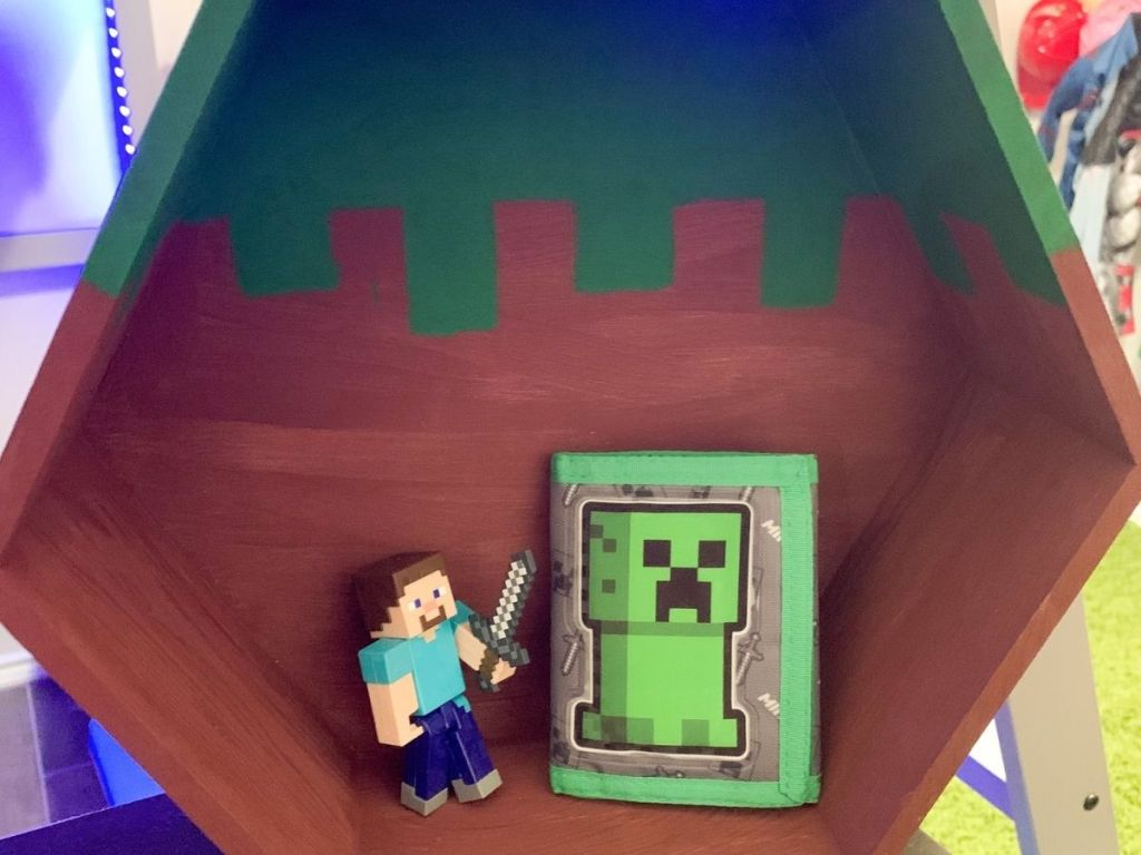 Minecraft painted shelf