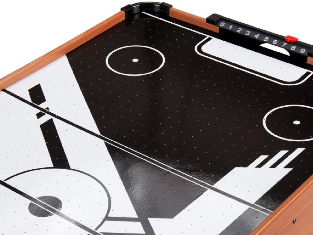 Air hockey table upclose