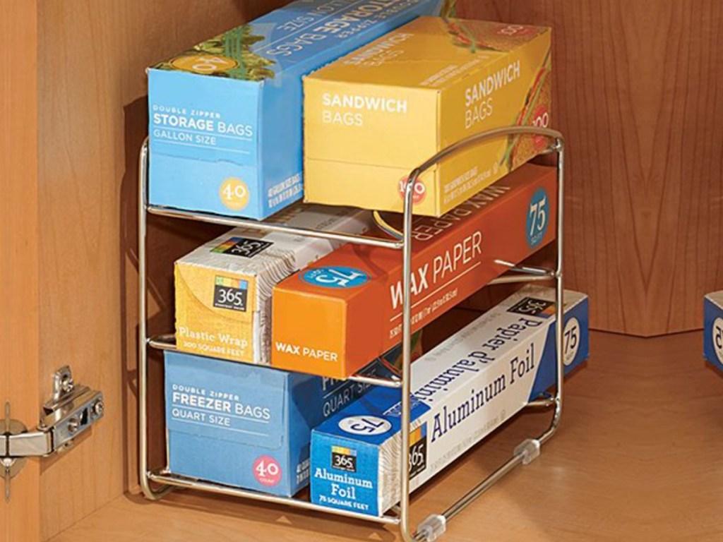 under cabinet storage rack