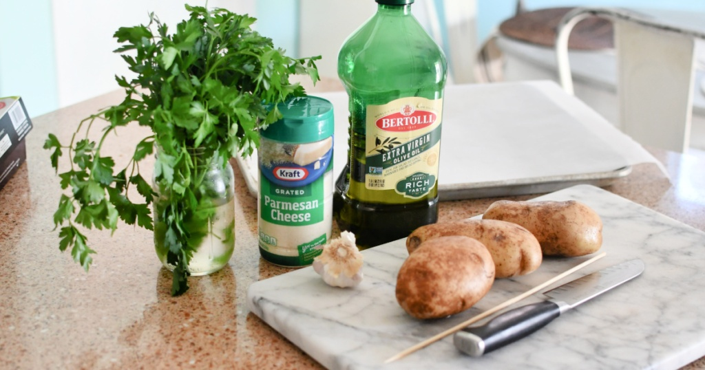 ingredients for crispy potato bites
