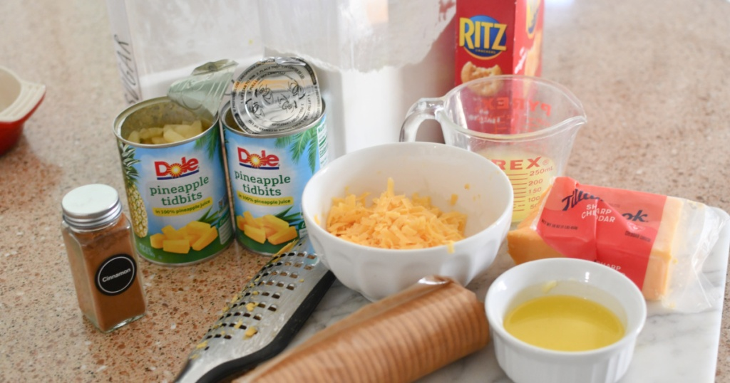 ingredients for pineapple casserole