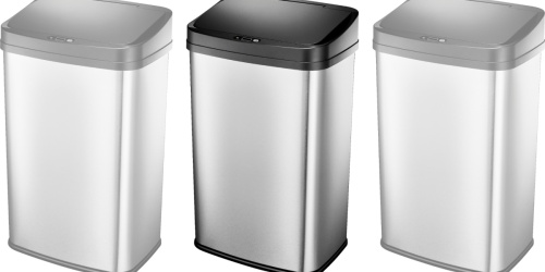 Stainless Steel Automatic 13 Gallon Trash Can Only $34.99 on BestBuy.com (Regularly $75)