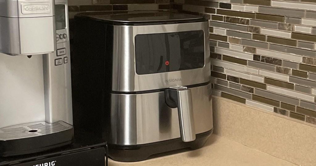 digital air fryer on counter