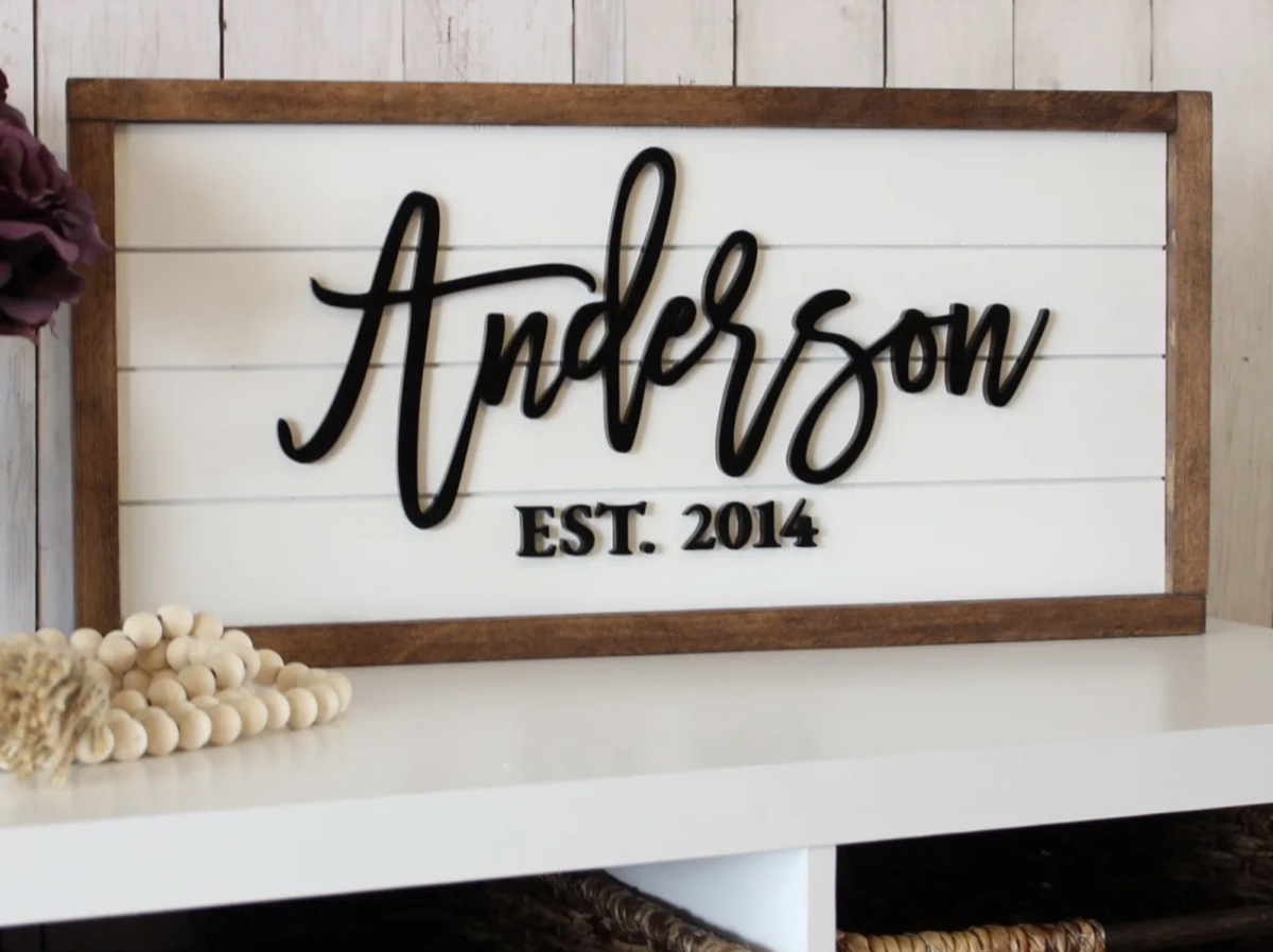 jane personalized sign