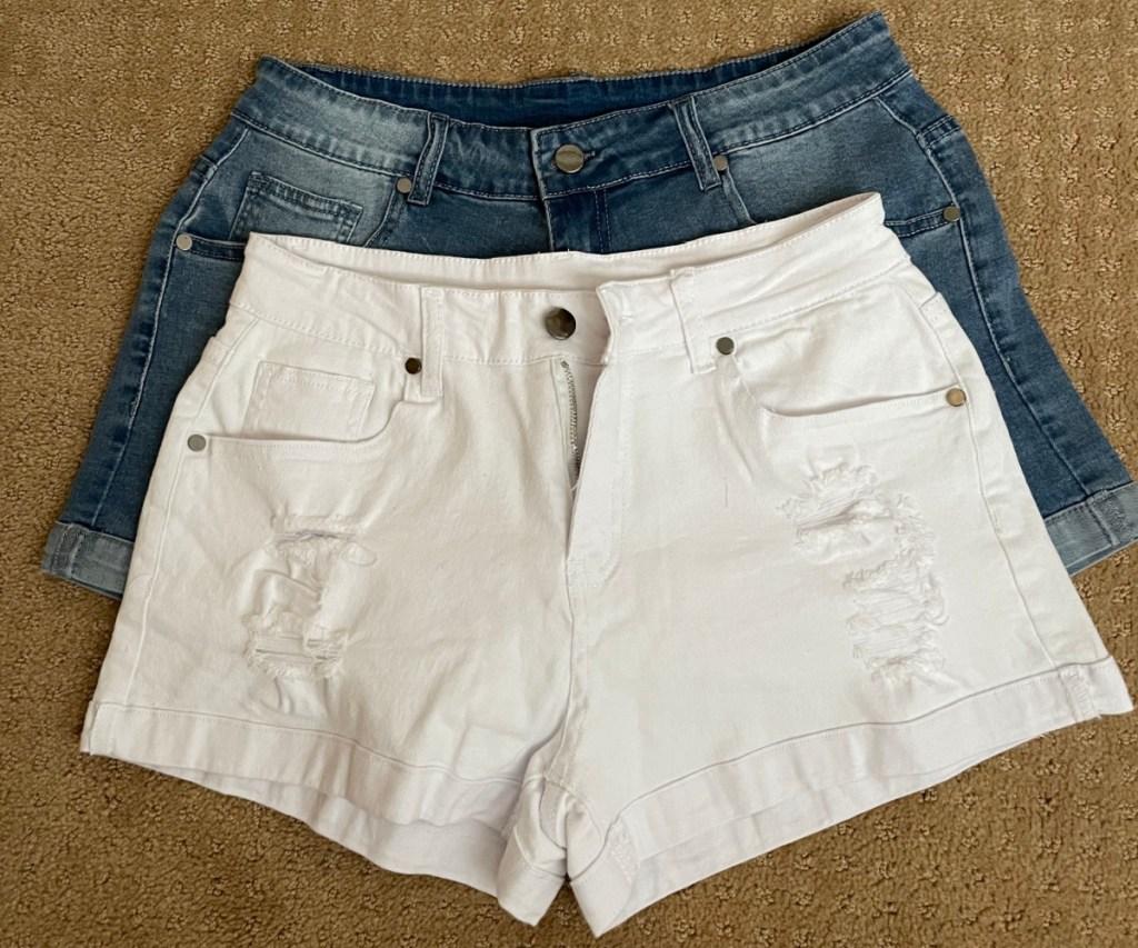 2 pairs of jean shorts