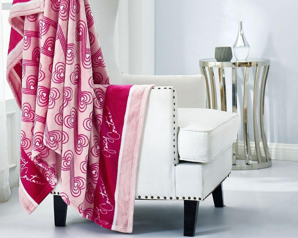 juicy couture pink blanket