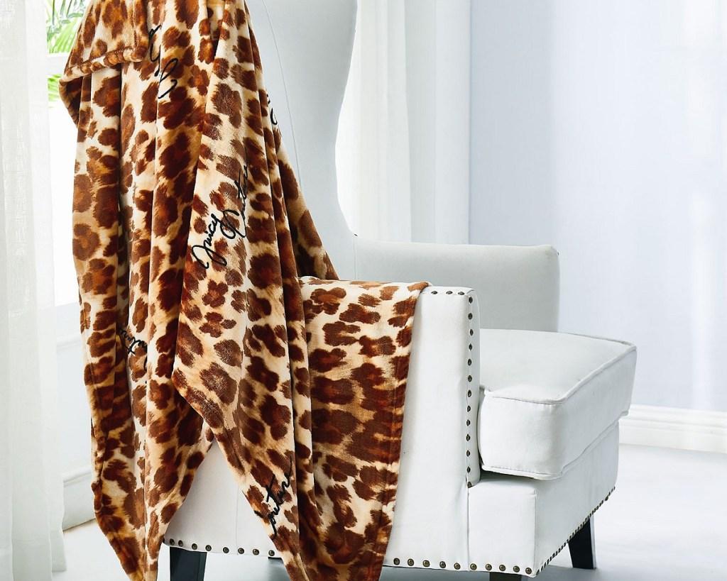 juicy leopard blanket