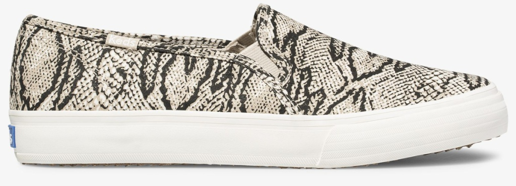 keds slip on animal print shoes