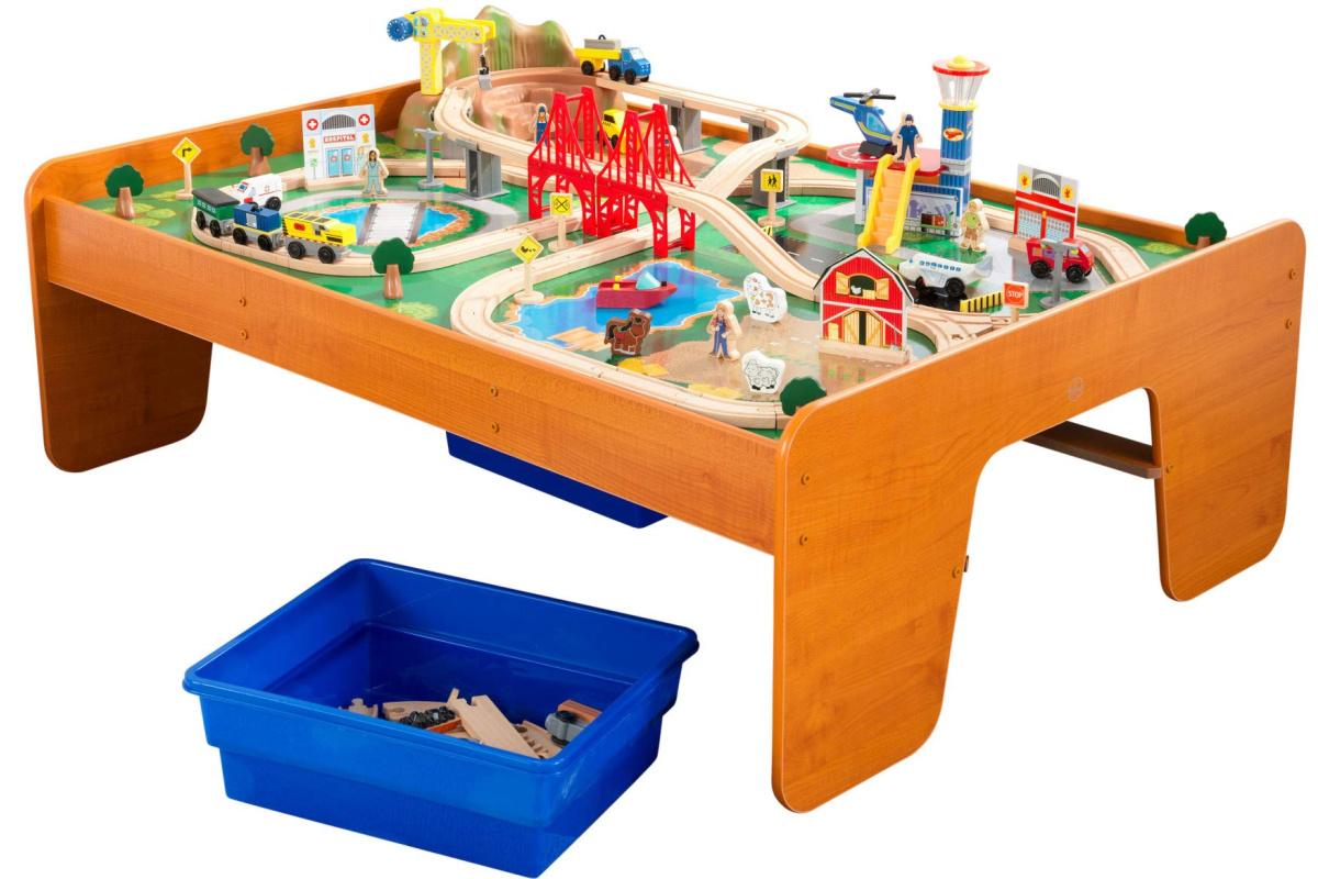 kidkraft train table w: storage