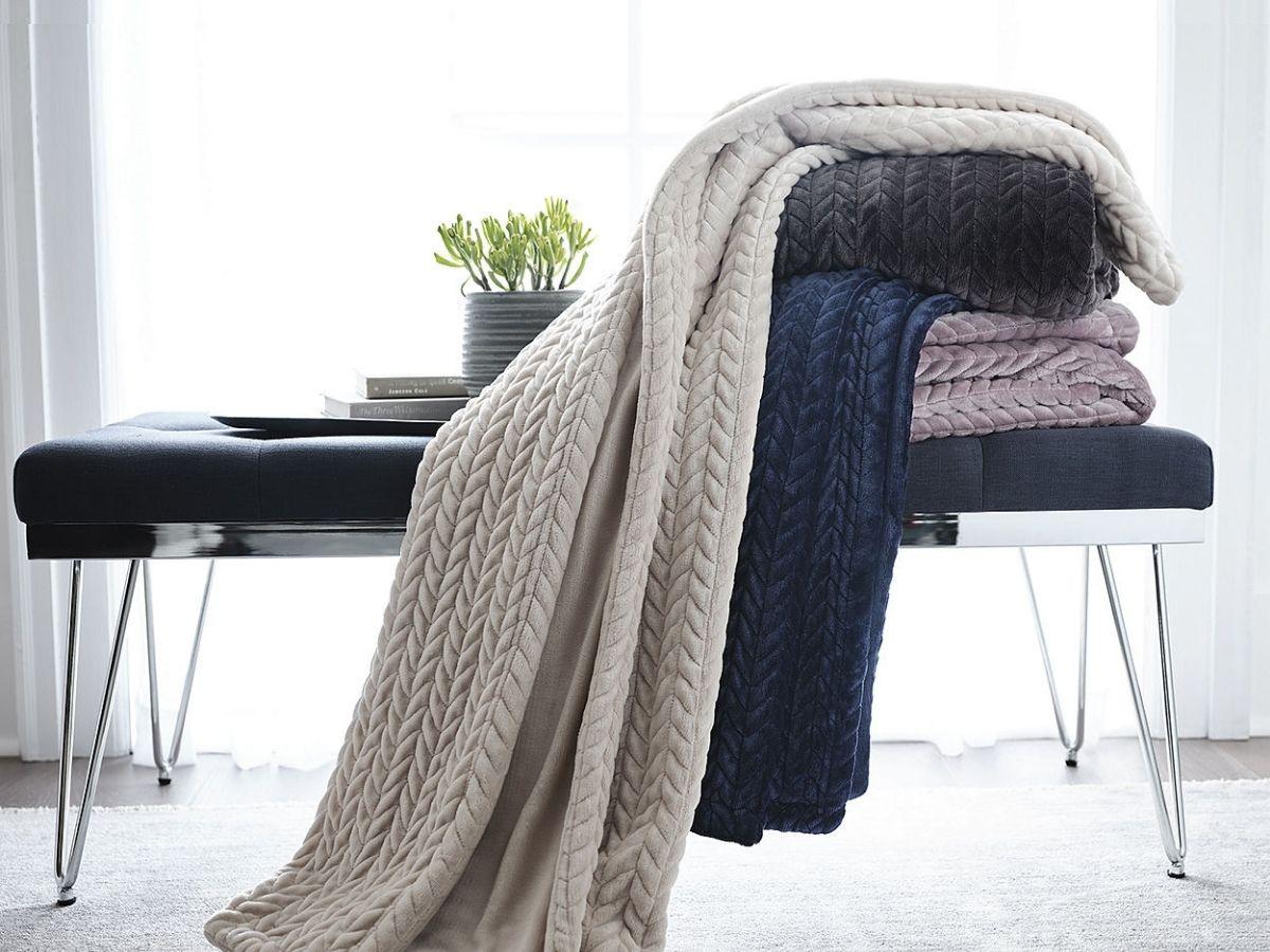 faux mink braided throw blankets