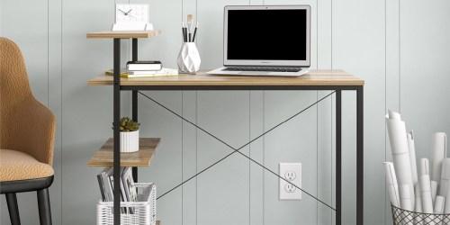 Minimalist Desk w/ Storage Shelves Just $39.96 Shipped on Walmart.com (Regularly $109)