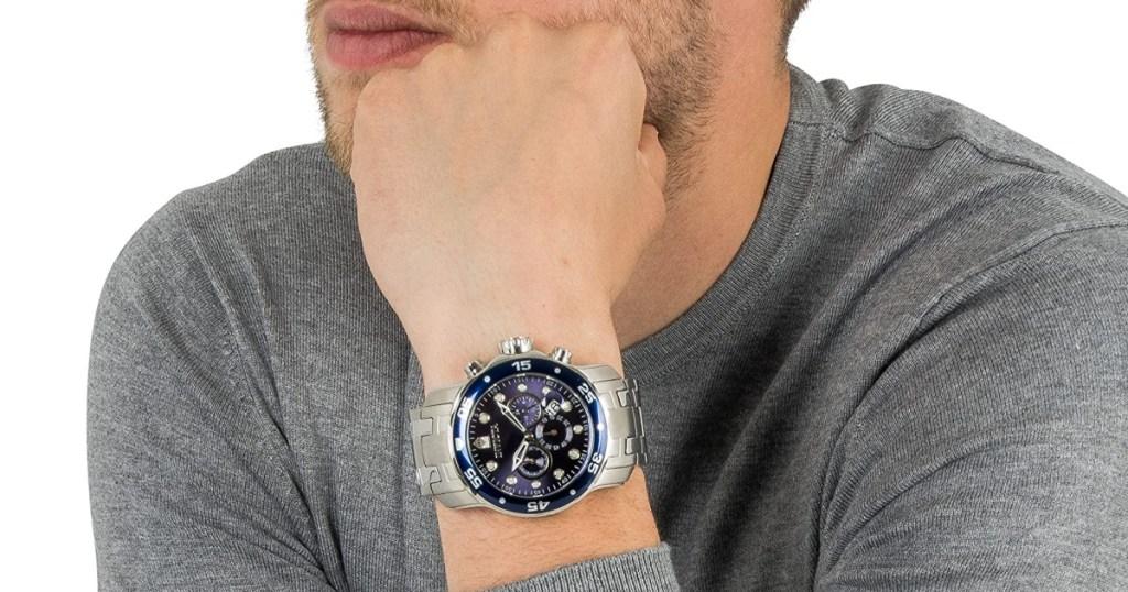 invicta mens watch on wrist