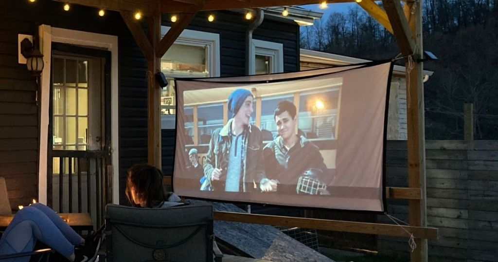 movie screen outdoors