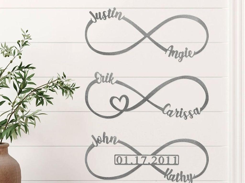 infinity monogram signs