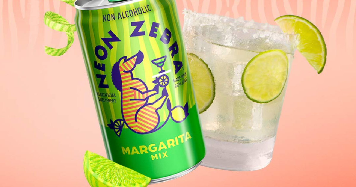 can of margarita mix next to a beverage