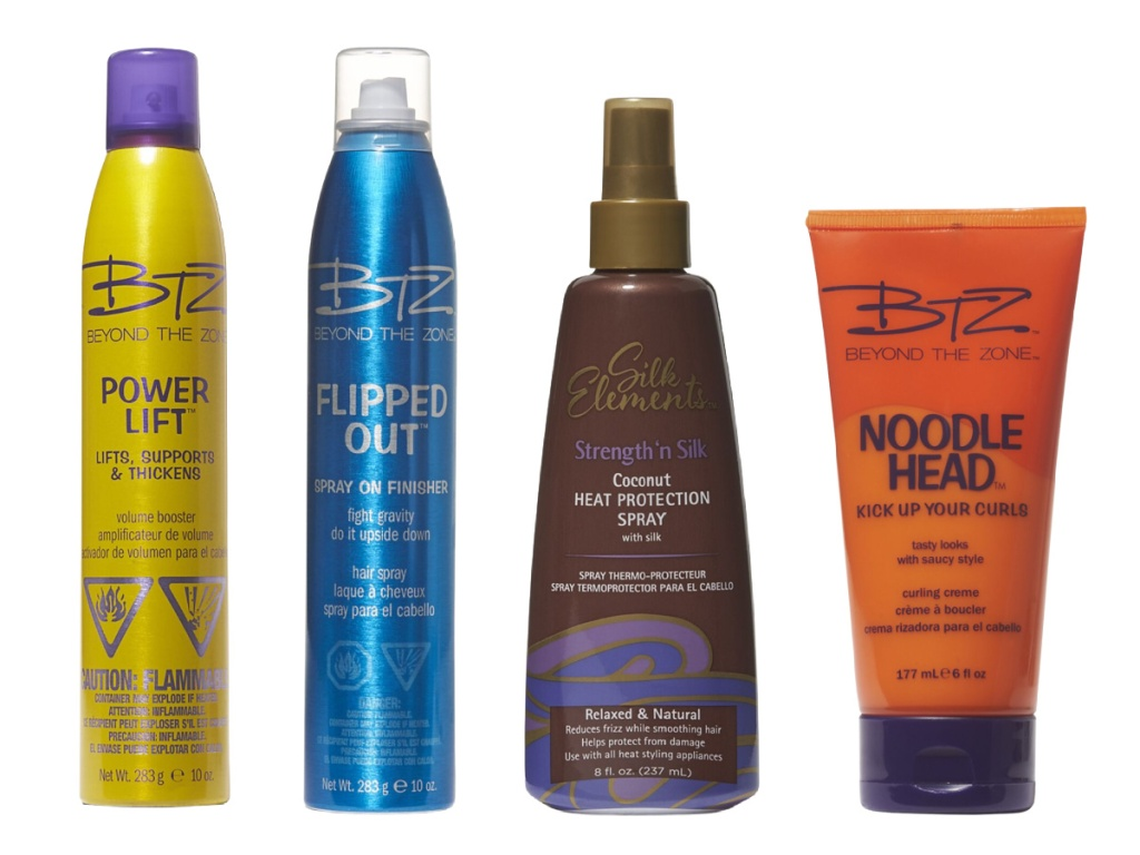 four hair care products