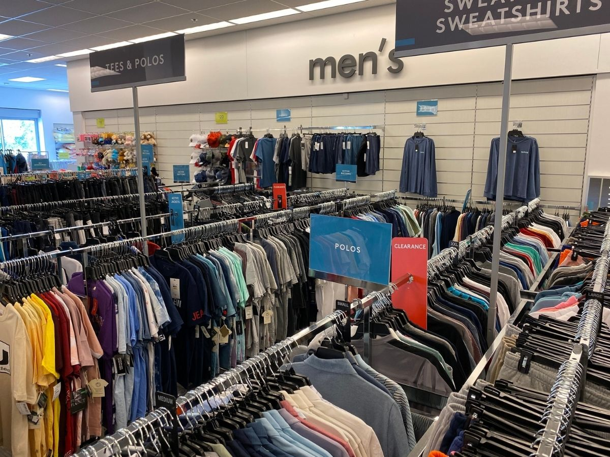 rack of men's shirts