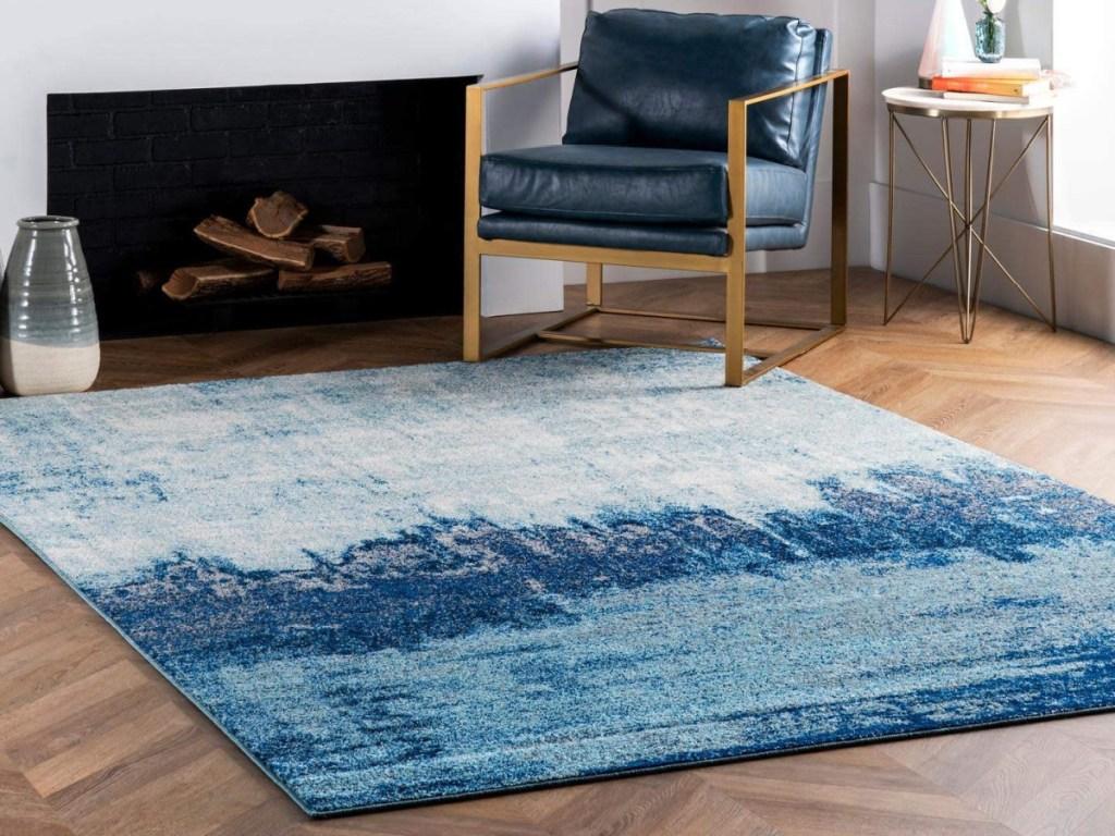"nuLOOM Blue 5' x 7'5"" Alayna Abstract Area Rug"