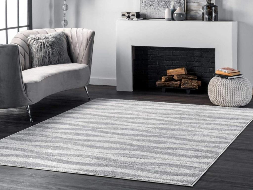 nuLOOM Grey 4' x 6' Tristan Contemporary Area Rug