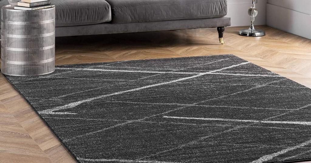 nuLOOM Thigpen Dark Grey 4' x 6' Contemporary Area Rug