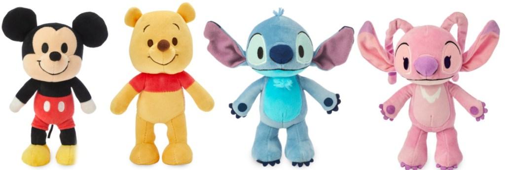 Mickey, Pooh, Lilo, Stitch plush