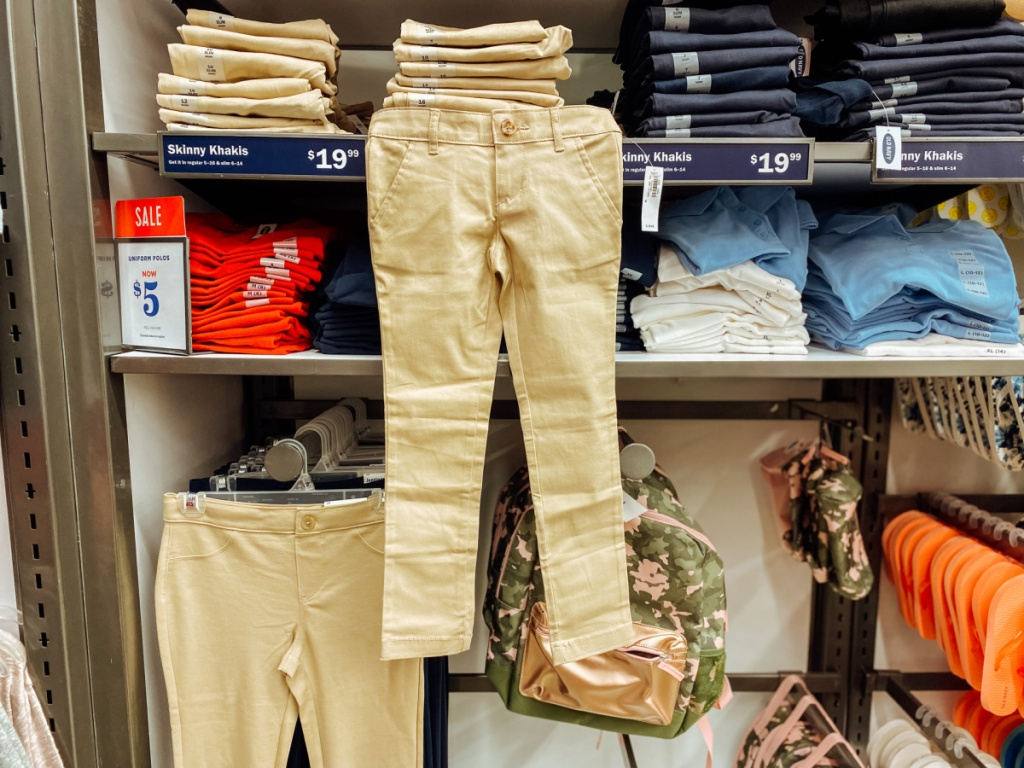 girls tan old navy uniform pants