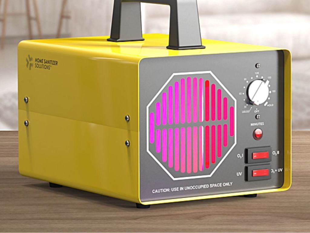 yellow air cleaning and sanitizing generator