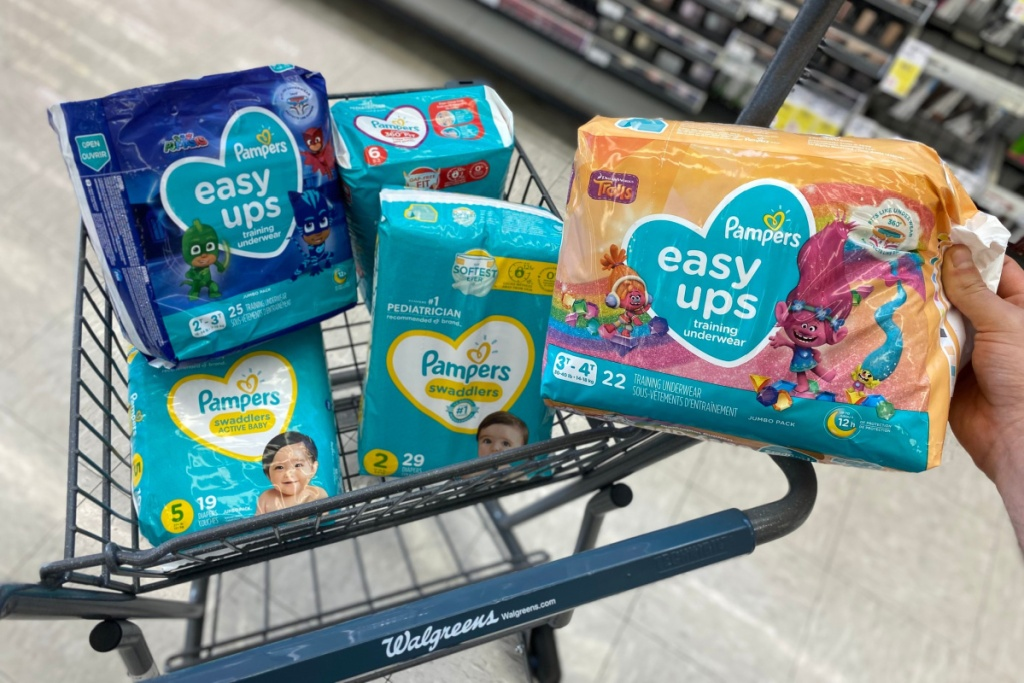 pampers easy ups in cart