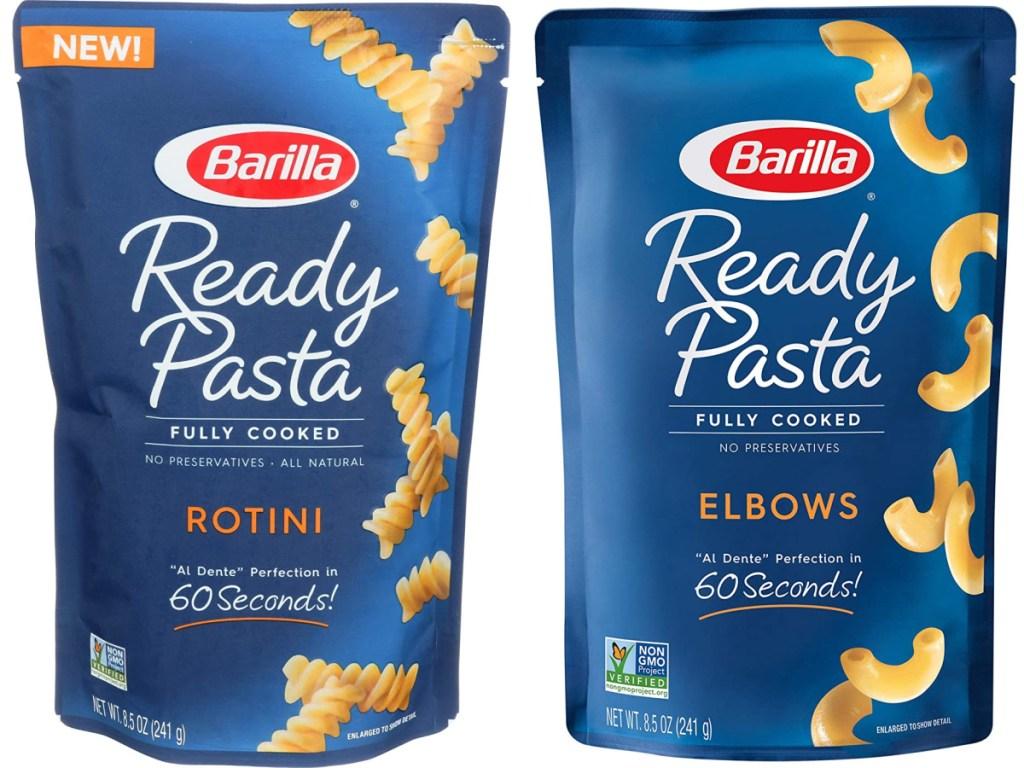 rotini and elbow pasta ready