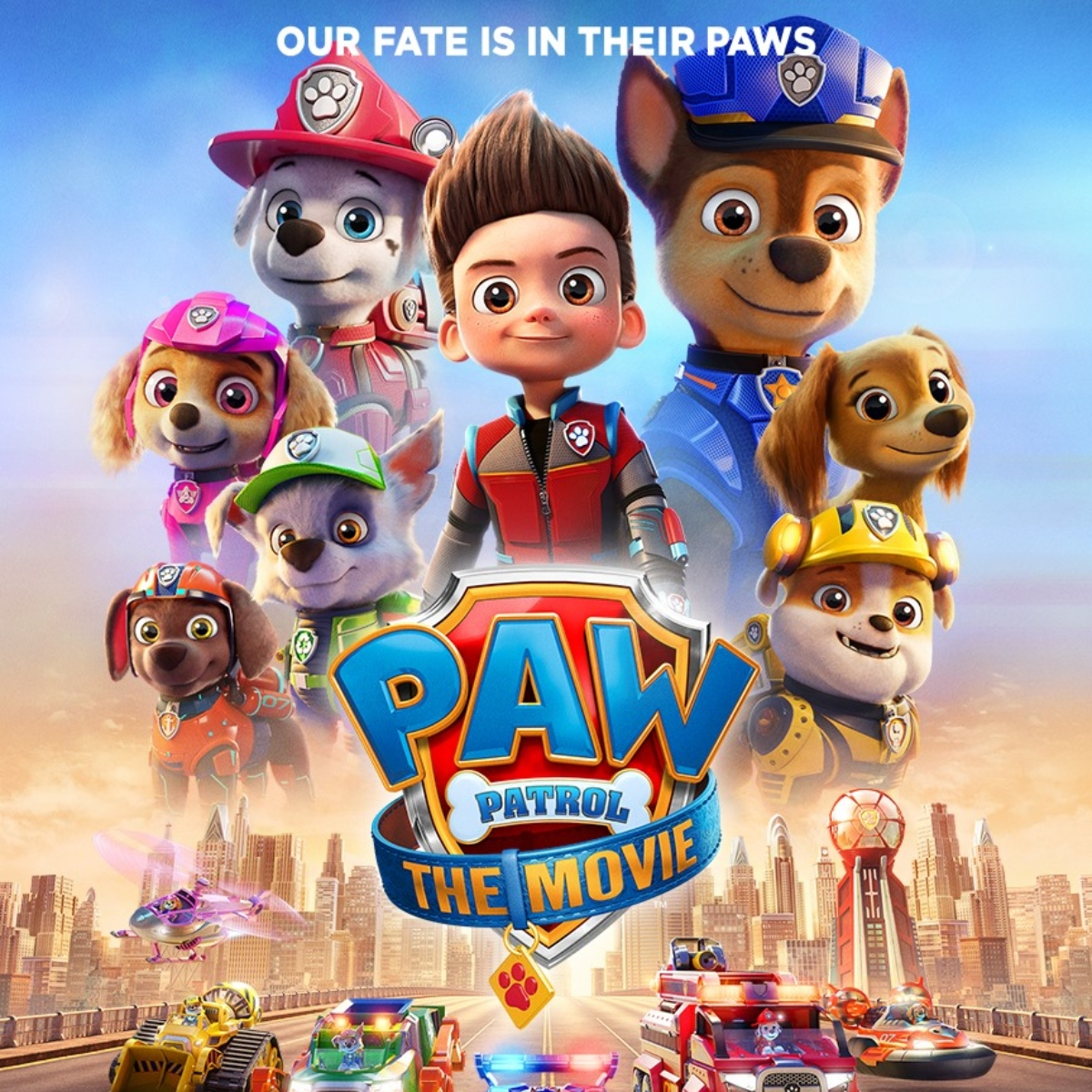 top portion of PAW Patrol movie poster