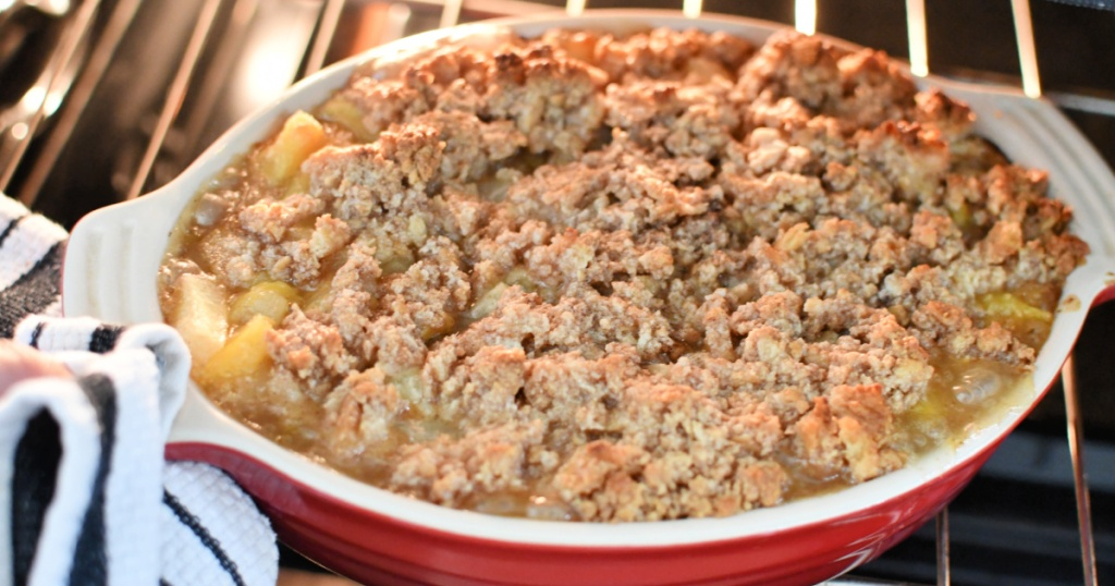 pineapple casserole out of the oven