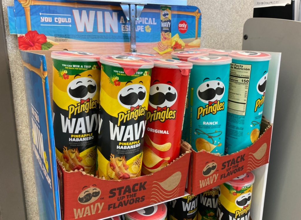 pineapple habenero pringles and other chip flavors at walgreens