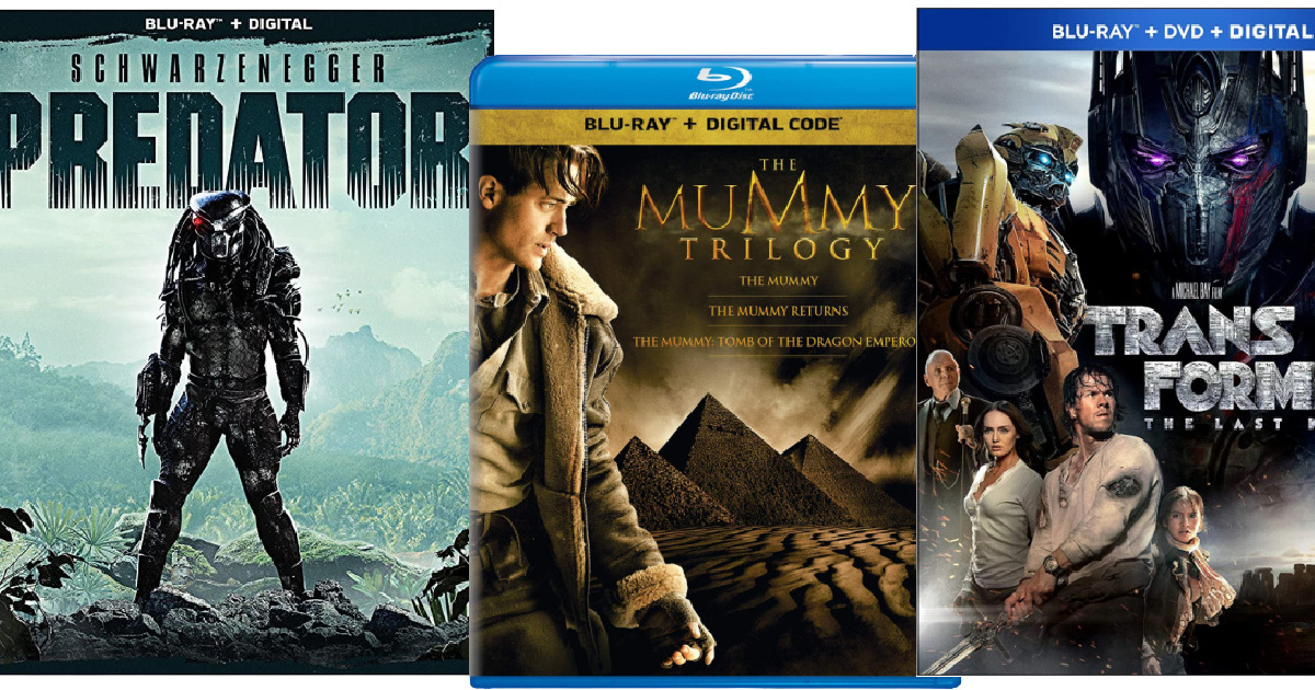 stock images of movie bluray covers