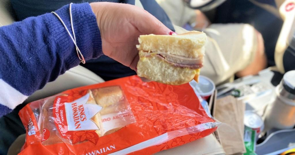 prep ahead sandwiches road trip using hawaiian rolls