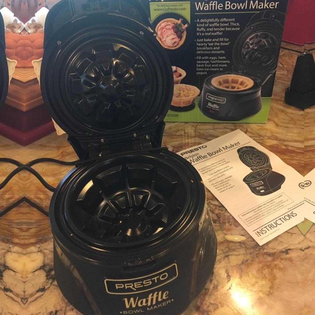 presto waffle bowl maker