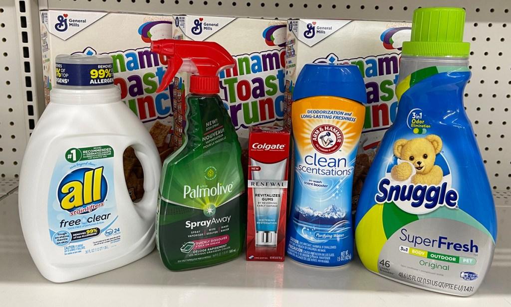 products on dollar general shelf