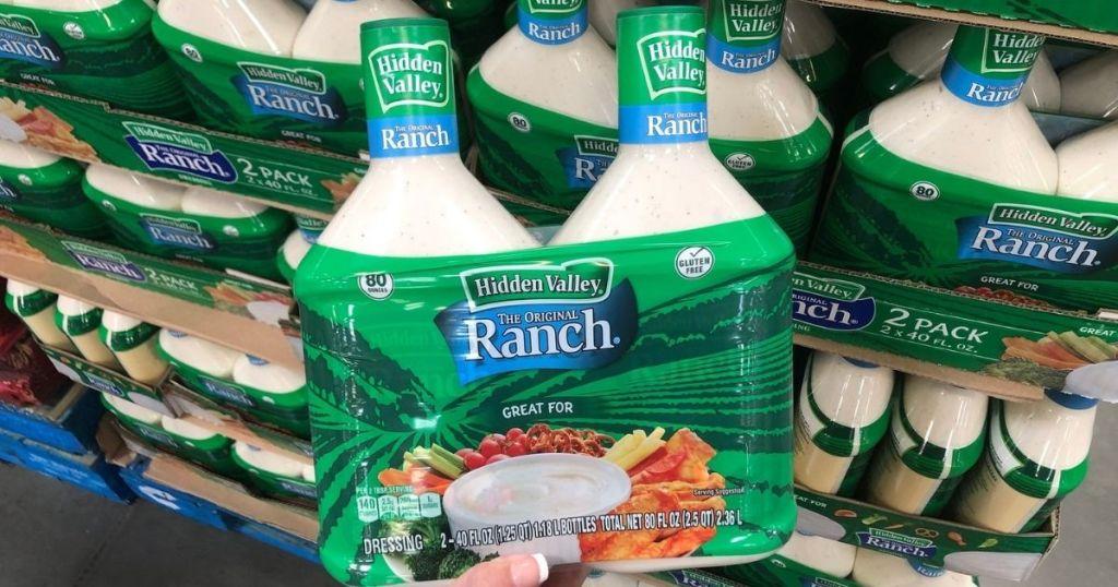 hand holding hidden valley ranch 2-pack