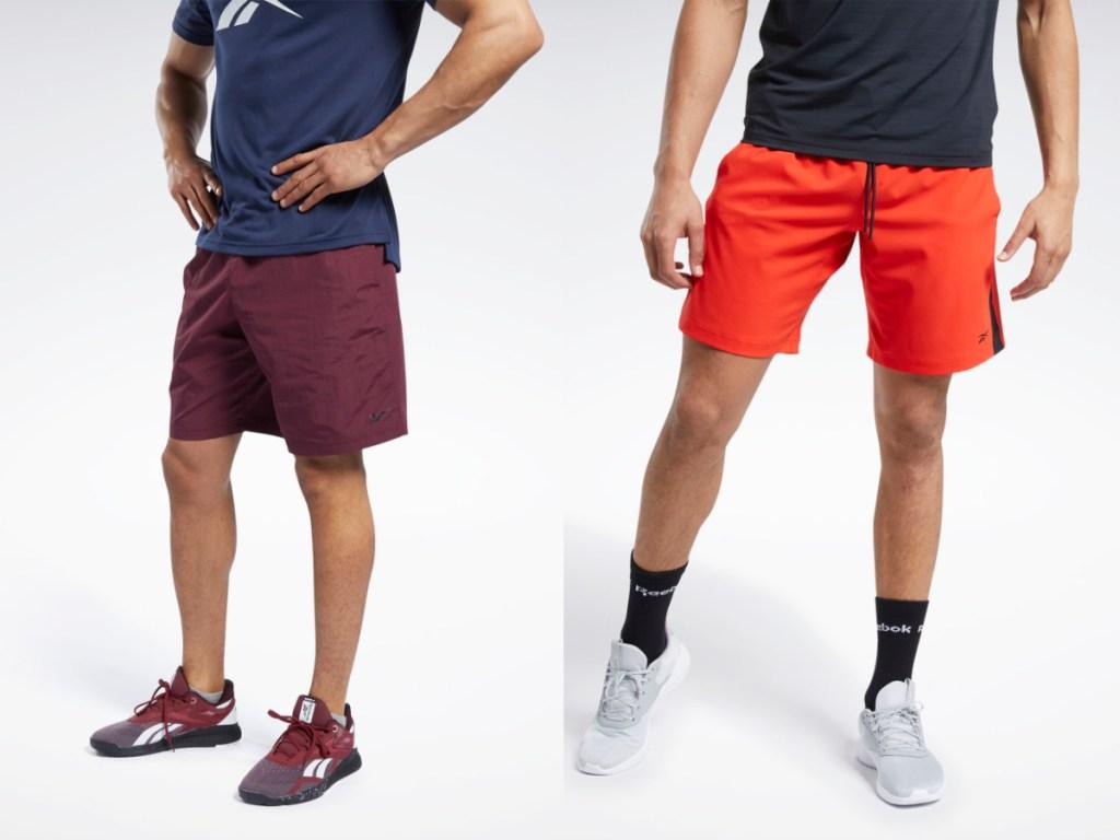 reebok mens shorts