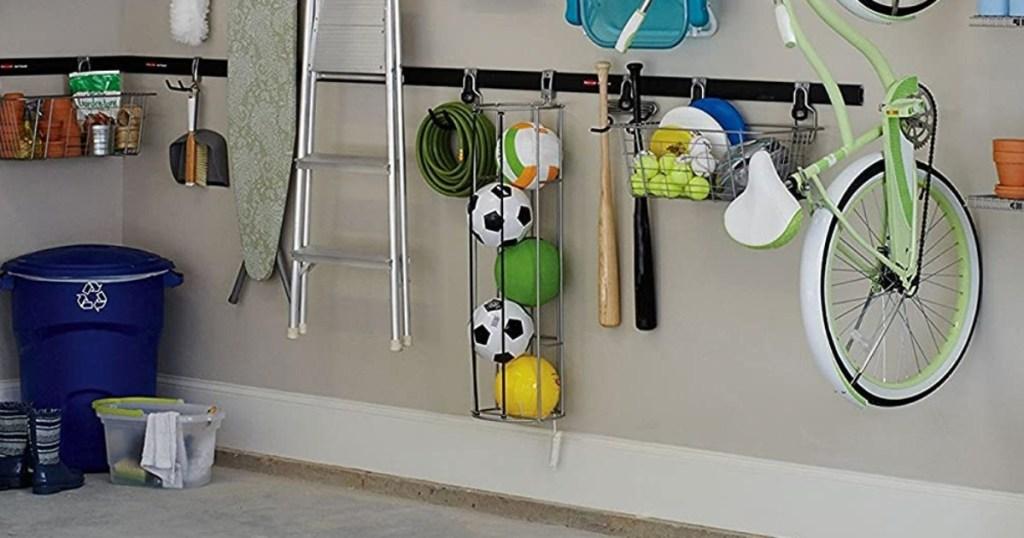 wall storage system in garage